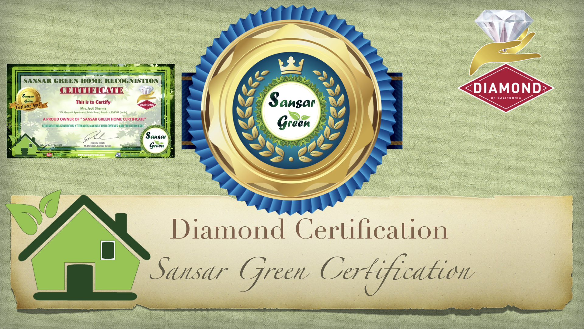 Sansar Green - Green Home Diamond Certification